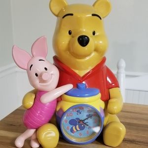 Winnie the Poo and Piglet. Clock Bank and Alarm